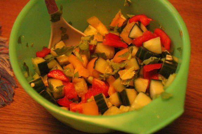 Ensalada vegetal cruda