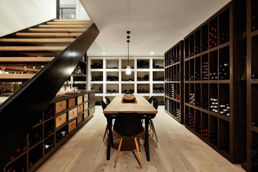 Silent Toorak by Finney Construction Construction, Wine cellars