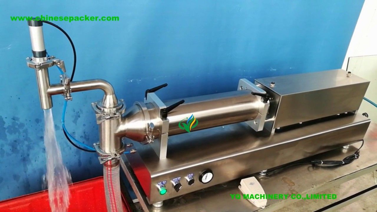 High Accuracy Pneumatic Filling Machine For 5l Liquid Paste