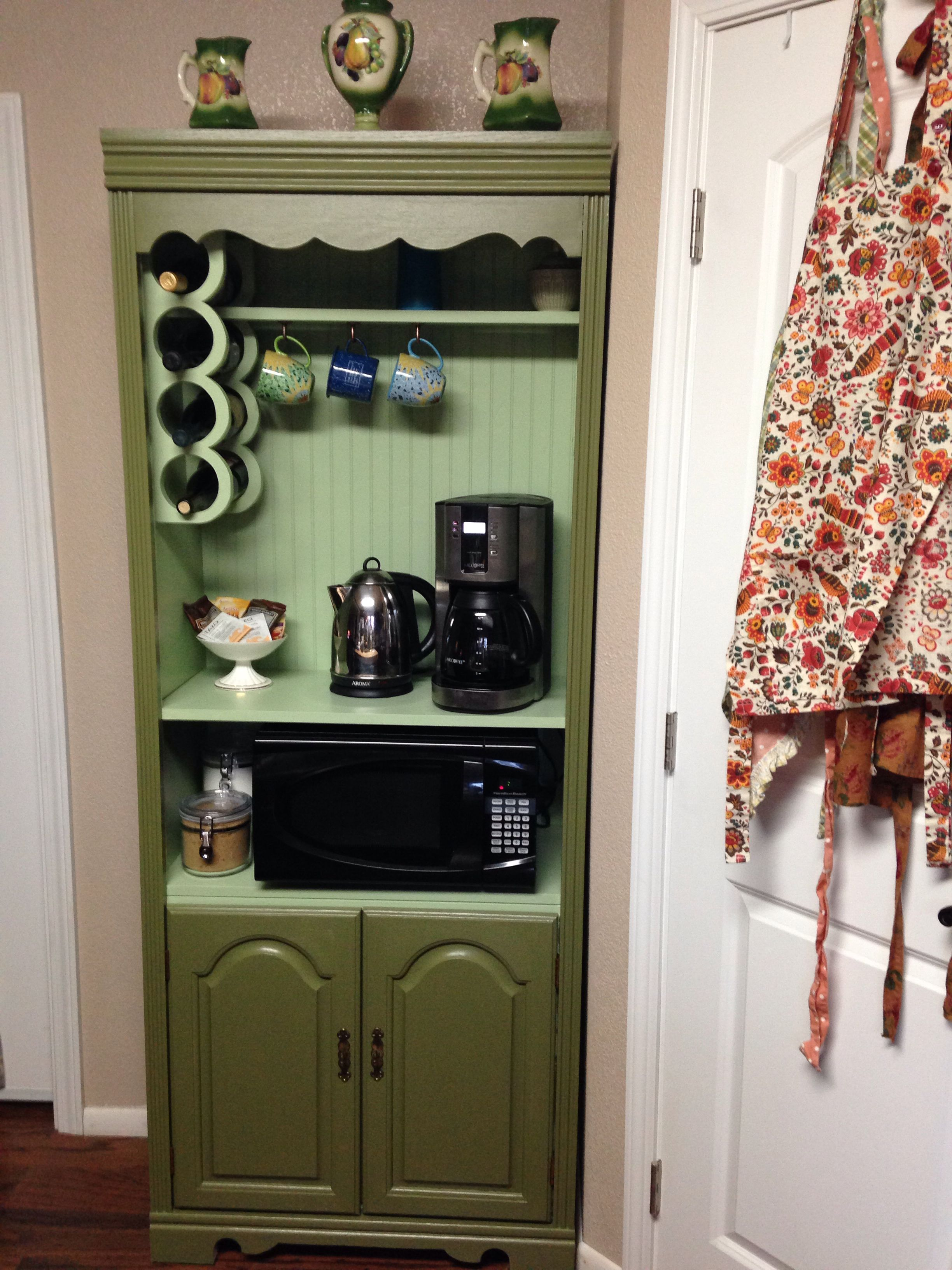 Refinished Hutch to Coffee Wine Bar Crafts Pinterest Bar