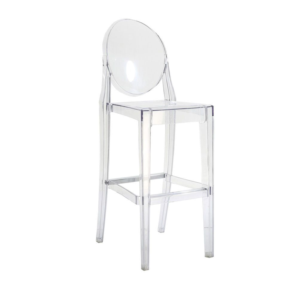 Ghost Bar Chair High That Connects To Table Modern Stool In Transparent Clear Dining Chairs