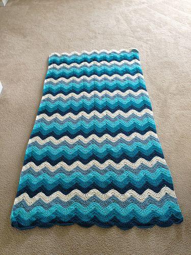The Crochet Crowd Ocean Waves Throw | Wellen häkeln, Wellen und Muster