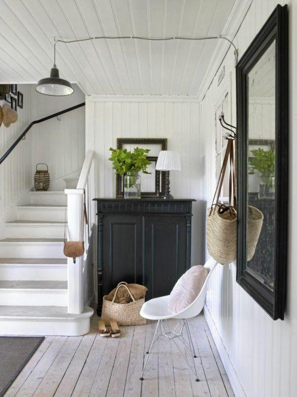 modernen flur gestalten 80 inspirierende ideen black beauty pinterest. Black Bedroom Furniture Sets. Home Design Ideas