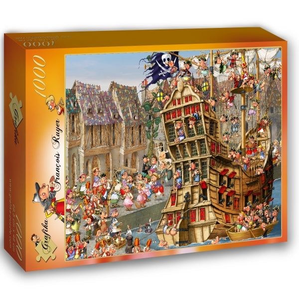 fran ois ruyer piraten 1000 teile grafika puzzle online kaufen puzzle jigsaw rompecabezas. Black Bedroom Furniture Sets. Home Design Ideas
