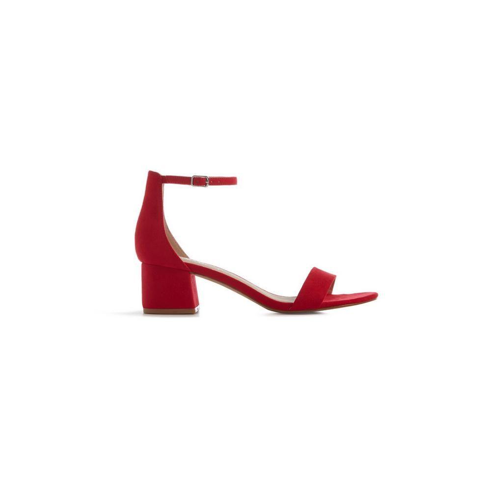 Sandalias Boots Shoes Con Tacón GruesoHeels Rojas Las Mujer b6gI7ymvYf