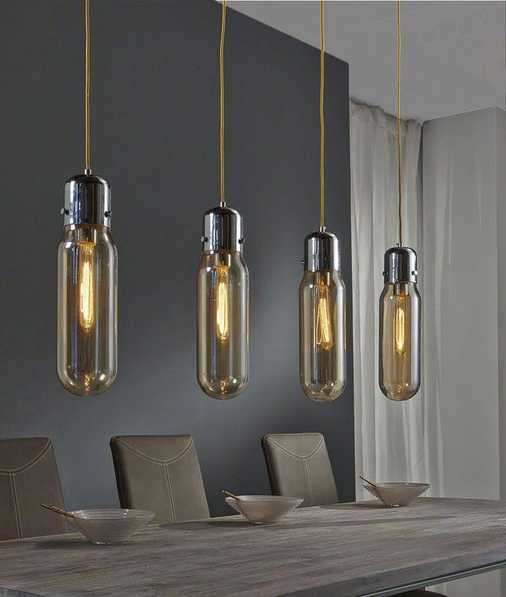 deze aparte hanglamp is een echte eyecatcher boven je eettafel de