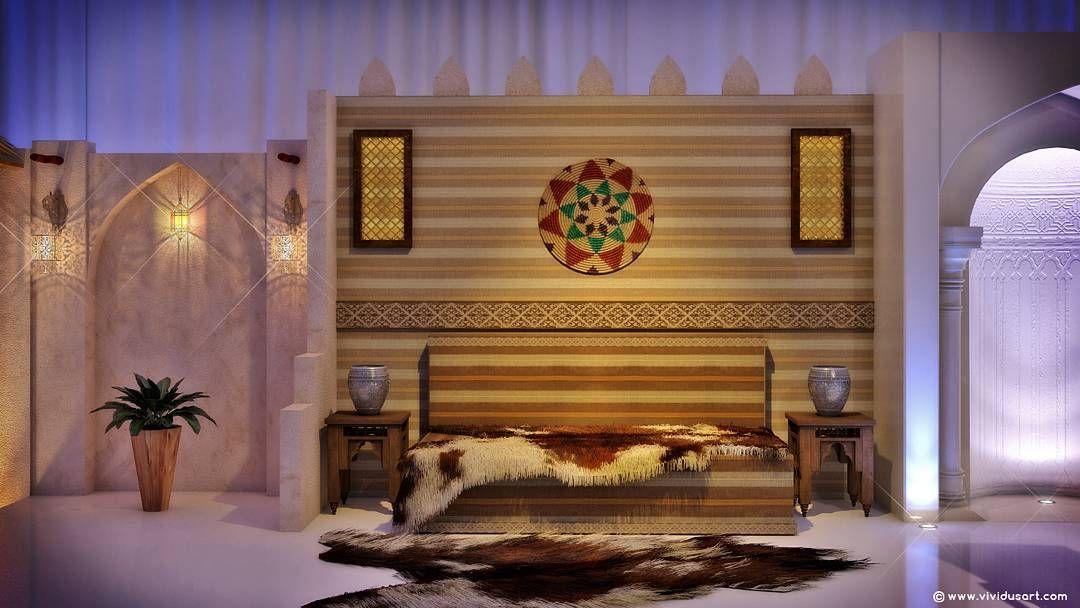 تصميم داخلي طراز عربي تقليدي Interior Traditional Islamic Designed By Vividus Doha Qatar Vividus Art Design Doha Qata In 2020 Design Interior Design Home Decor