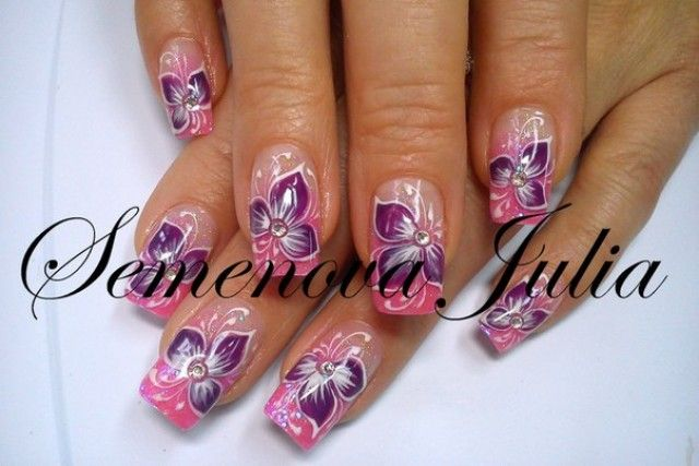 one stroke fingern gel design vorlagen yulia 2014 nageldesign bilder by world nails nailart. Black Bedroom Furniture Sets. Home Design Ideas