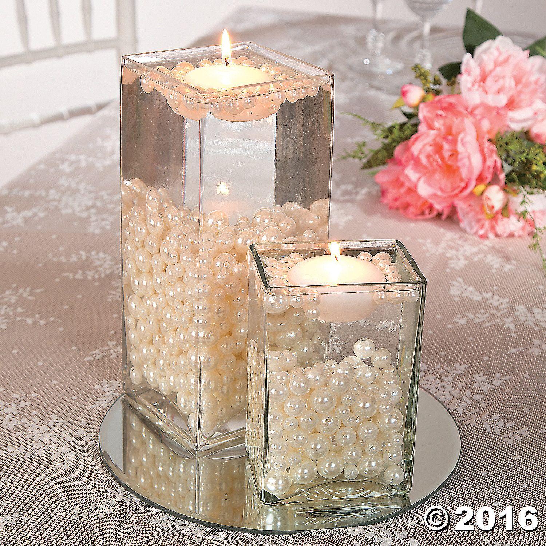 Pearl Wedding Decoration Ideas: Easy Pearl Bead Centerpiece Idea