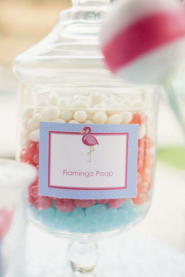 Flamingo Pool Party Ideas Candy Bar