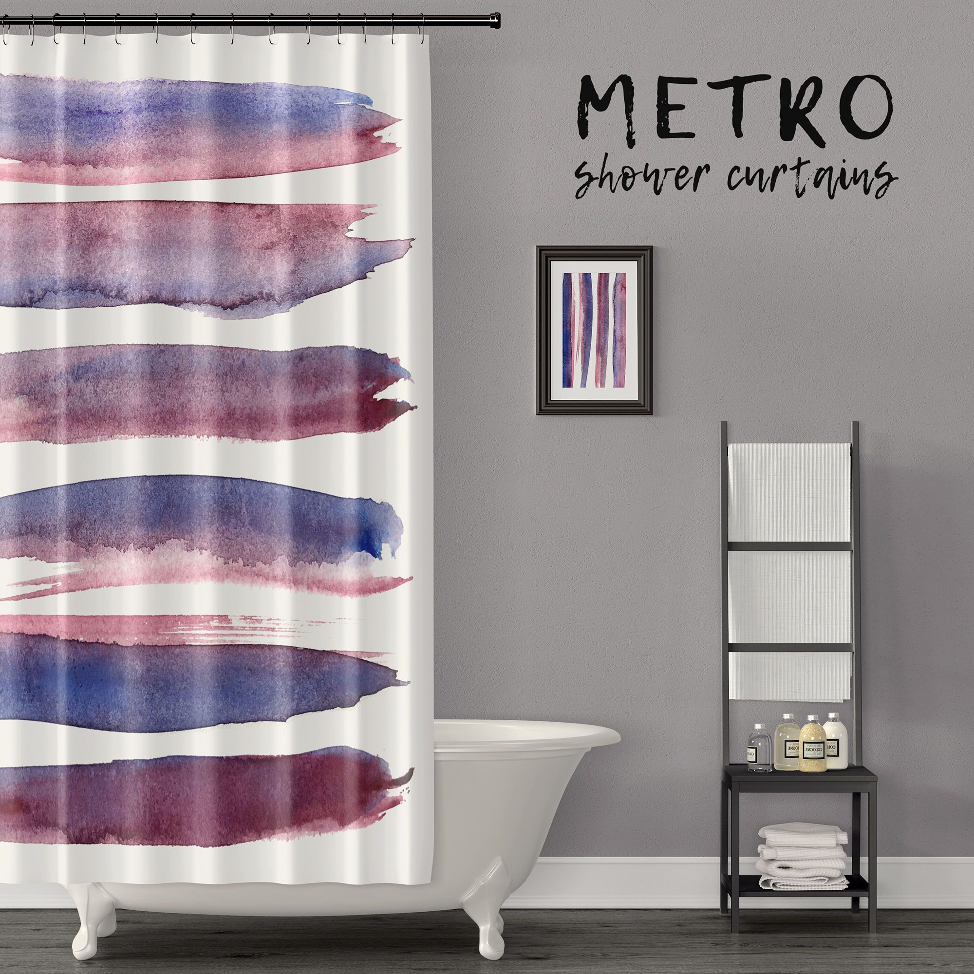 Zen Out Your Bathroom With This Bold But Clean Brush Stroke Art