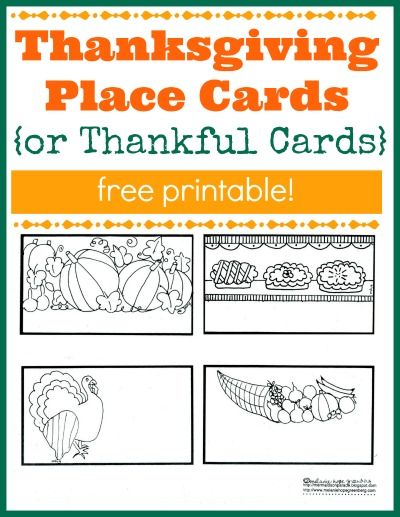 kids can help out by making place cards for thanksgiving dinner or use them to - Cards For Kids To Color
