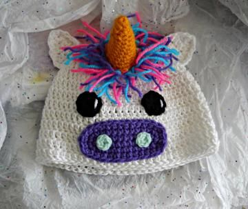 crochet unicorn hat by TigerbelleCrochet .message me on facebook to order! www.facebook.com/tigerbellecrochet