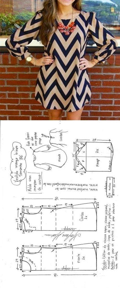 Patrón vestido sin mangas | Proyectos que intentar | Pinterest ...