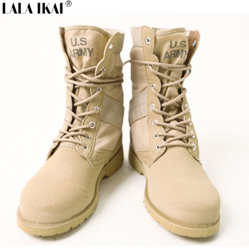 Yeezy Season Kanye Military Boots Desert Boots Official One Canvas Summer Military  Boot Men Casual Botas High Street