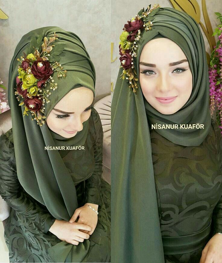it's simple and beauty crown for hijab