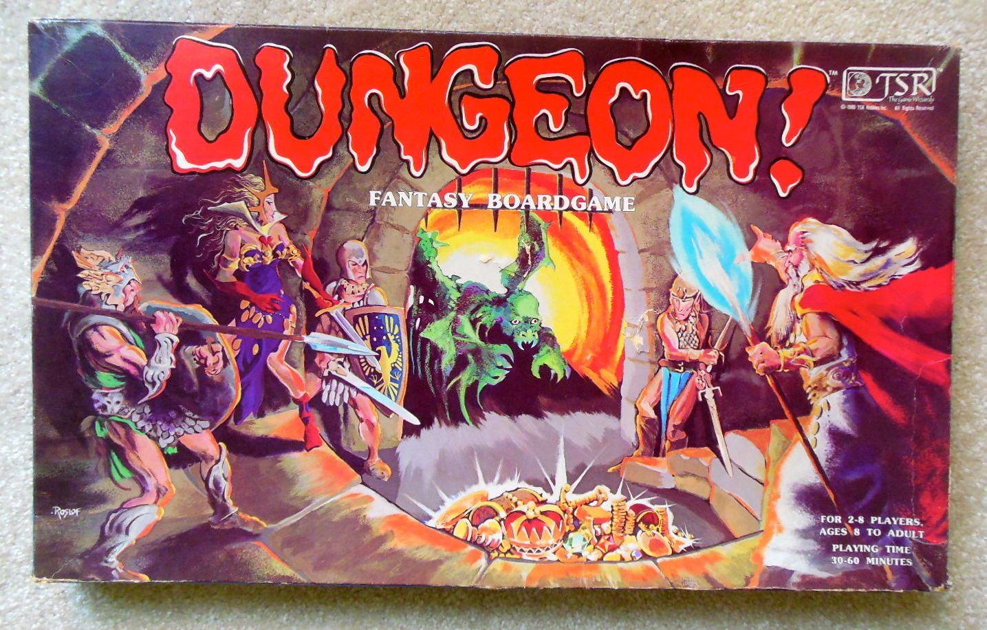 Vintage 1980s Tsr Dungeon Fantasy Board Game D Amp D Dragons