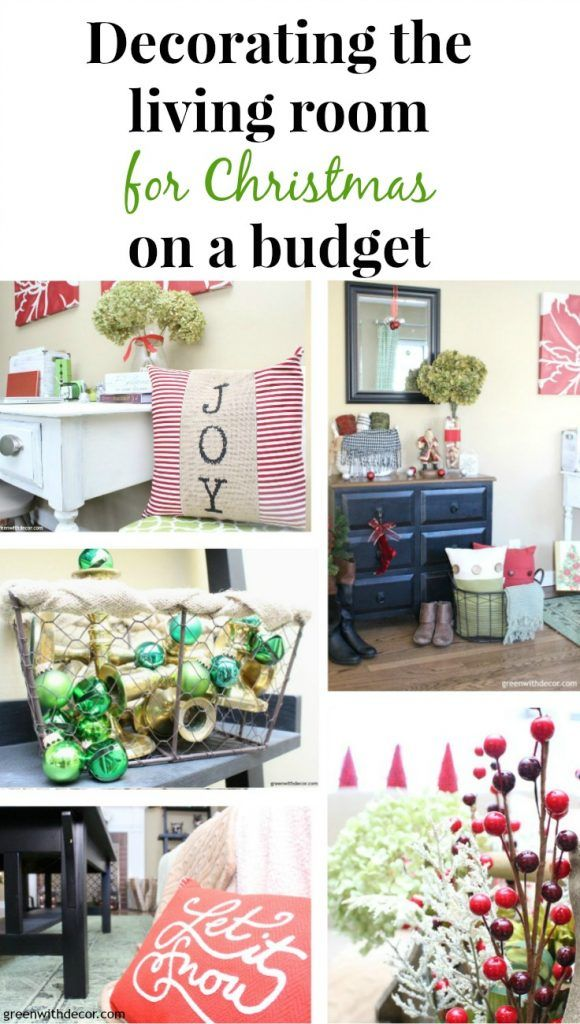 Decorating The Living Room For Christmas On A Budget Diy Holiday