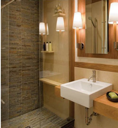 Bathroom small bathroom shower design photos small for Bathroom decor pictures