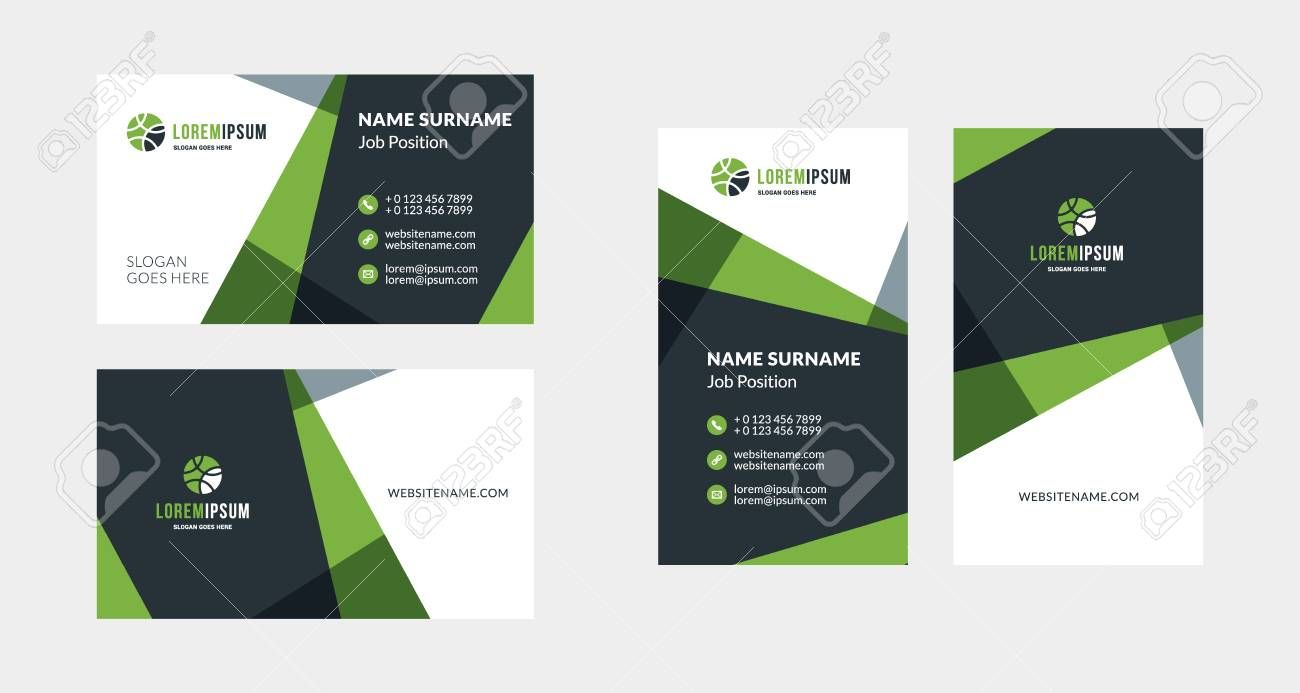 Double Sided Creative Business Card Template Portrait And Landscape Per In 2020 Business Cards Creative Templates Business Cards Creative Landscaping Business Cards