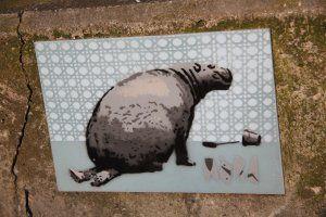 Michel Schultheiss: Nicht die Polizei, sondern ein Nilpferd hat den Künstler an der Wasserstrasse erwischt.