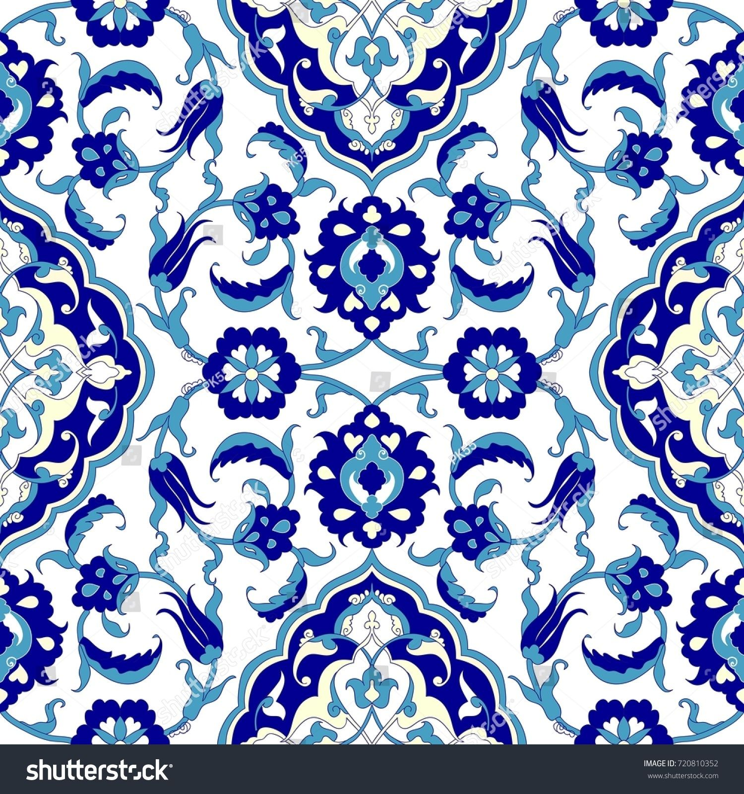 Seamless turkish colorful pattern. Vintage multicolor pattern in ...