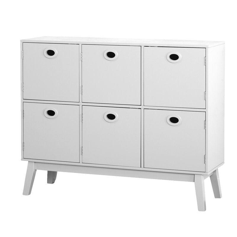 Best Tierney 6 Door Accent Cabinet Accent Chest Storage Cabinet 640 x 480