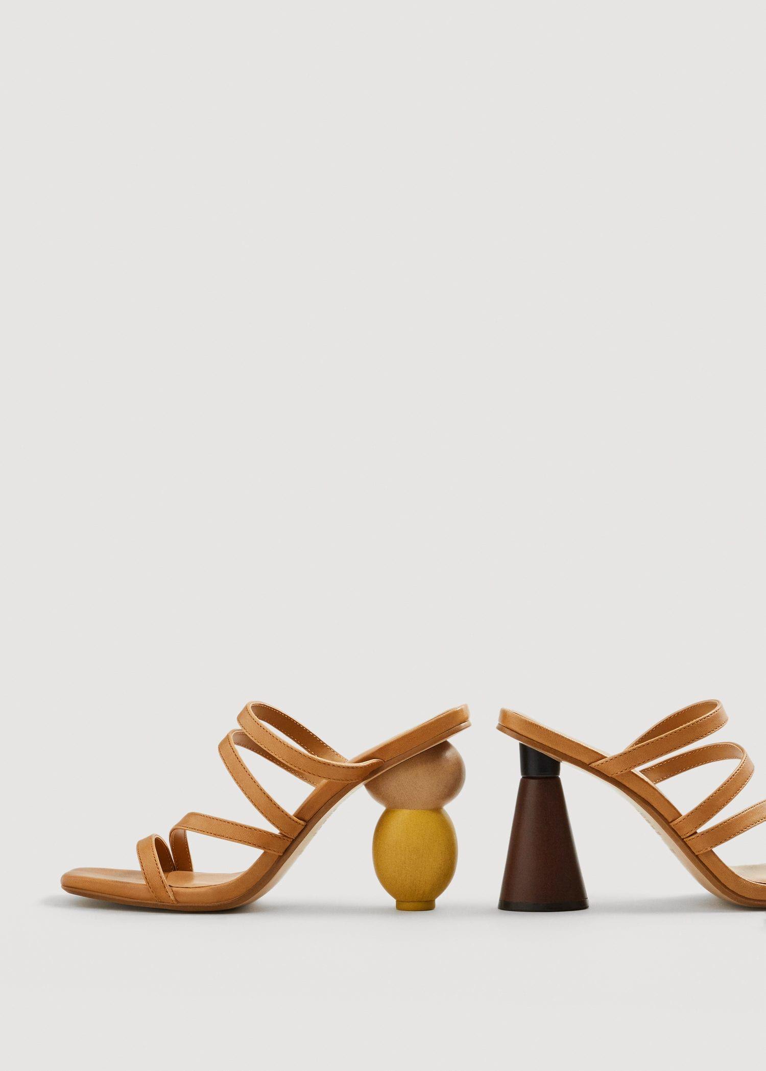 b9e29b868c3 Geometric heel leather sandals - Women