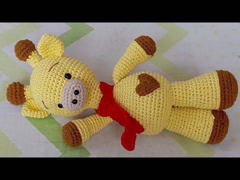 Jirafa Amigurumi Tejida A Crochet - Tutorial Paso A Paso