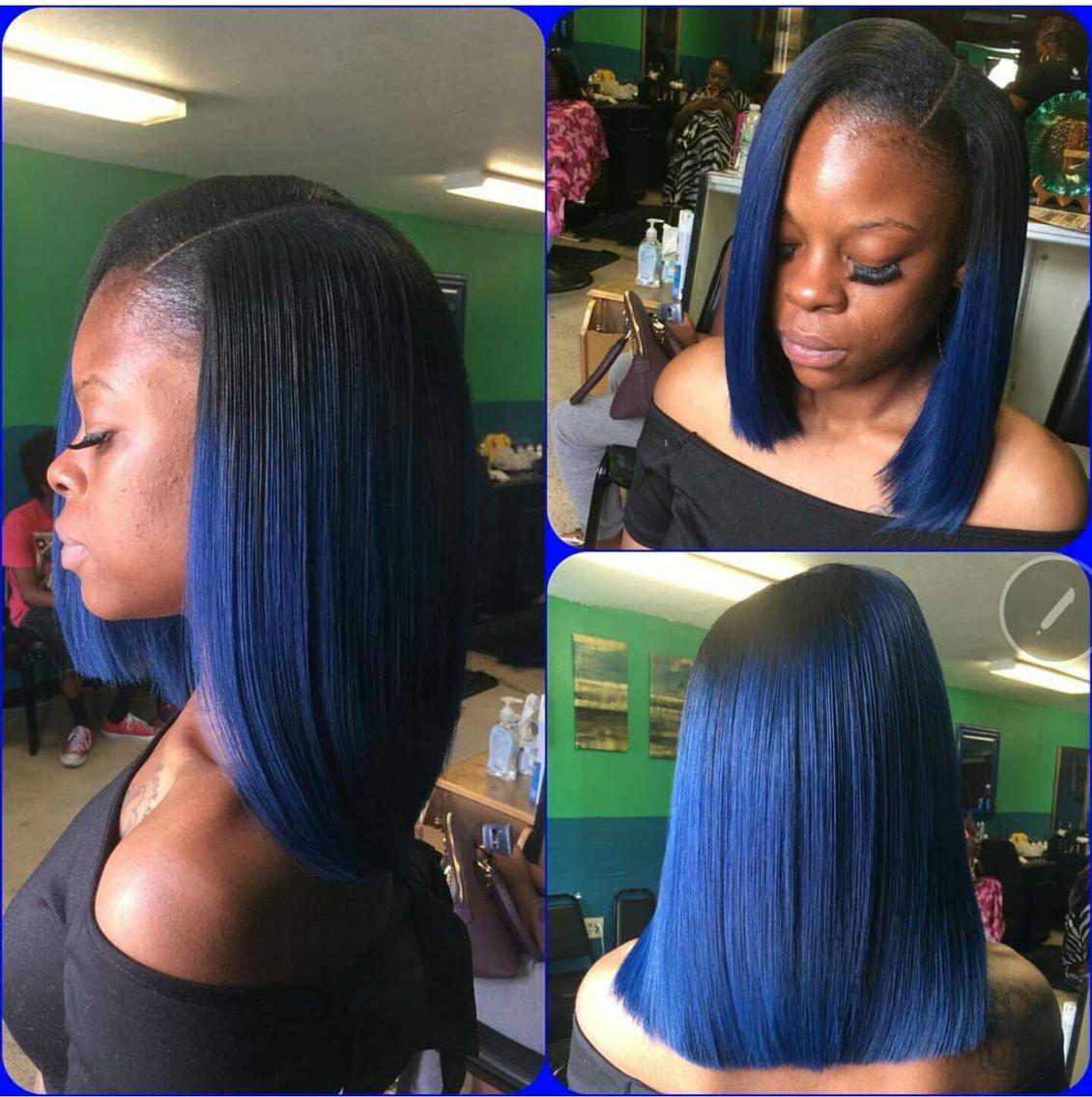 Navy Blue Wigs Human Hair