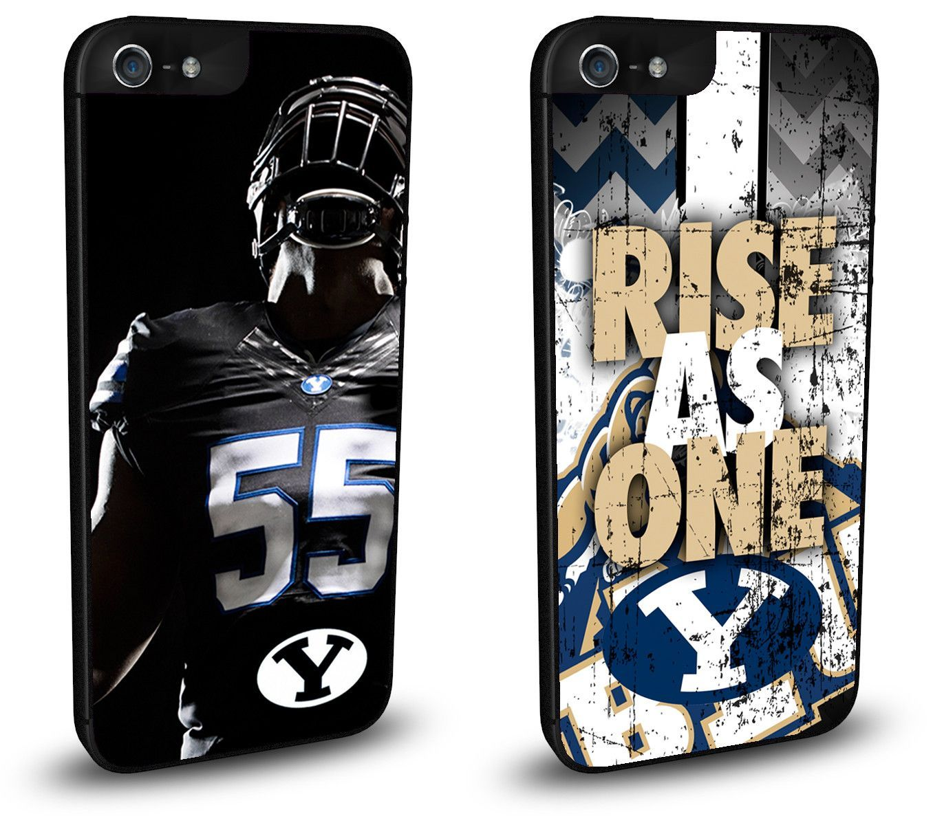 BYU Cougars Cell Phone Hard Case TWO PACK for iPhone 6, iPhone 6 Plus, iPhone 5/5s, iPhone SE, iPhone 4/4s or iPhone 5c