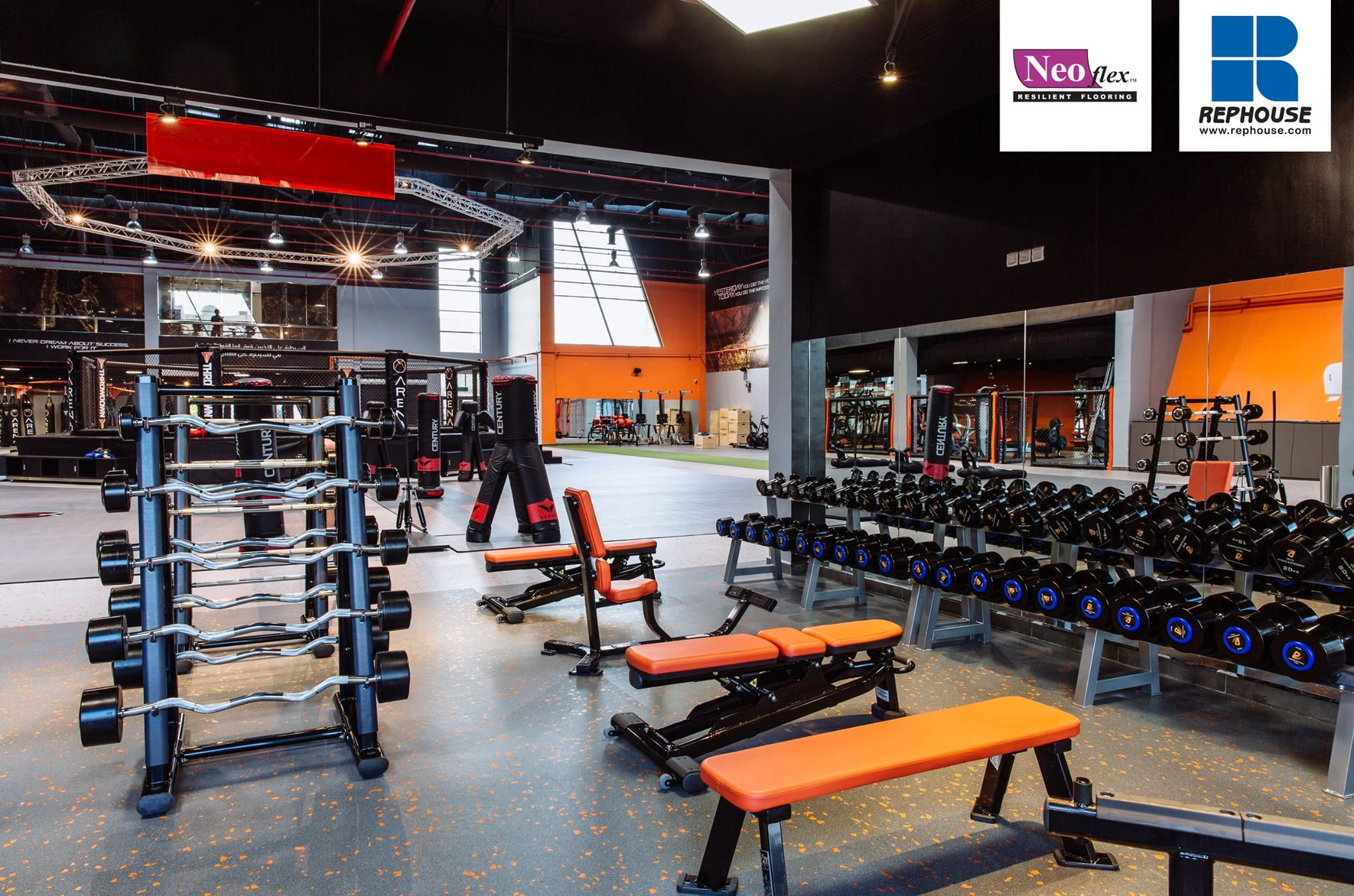 Neoflex 600 Series Bfc Rubber Fitness Flooring Arena Saudi Mma Jeddah Saudi Arabia Rubber Exercise Flooring Floor Workouts At Home Gym