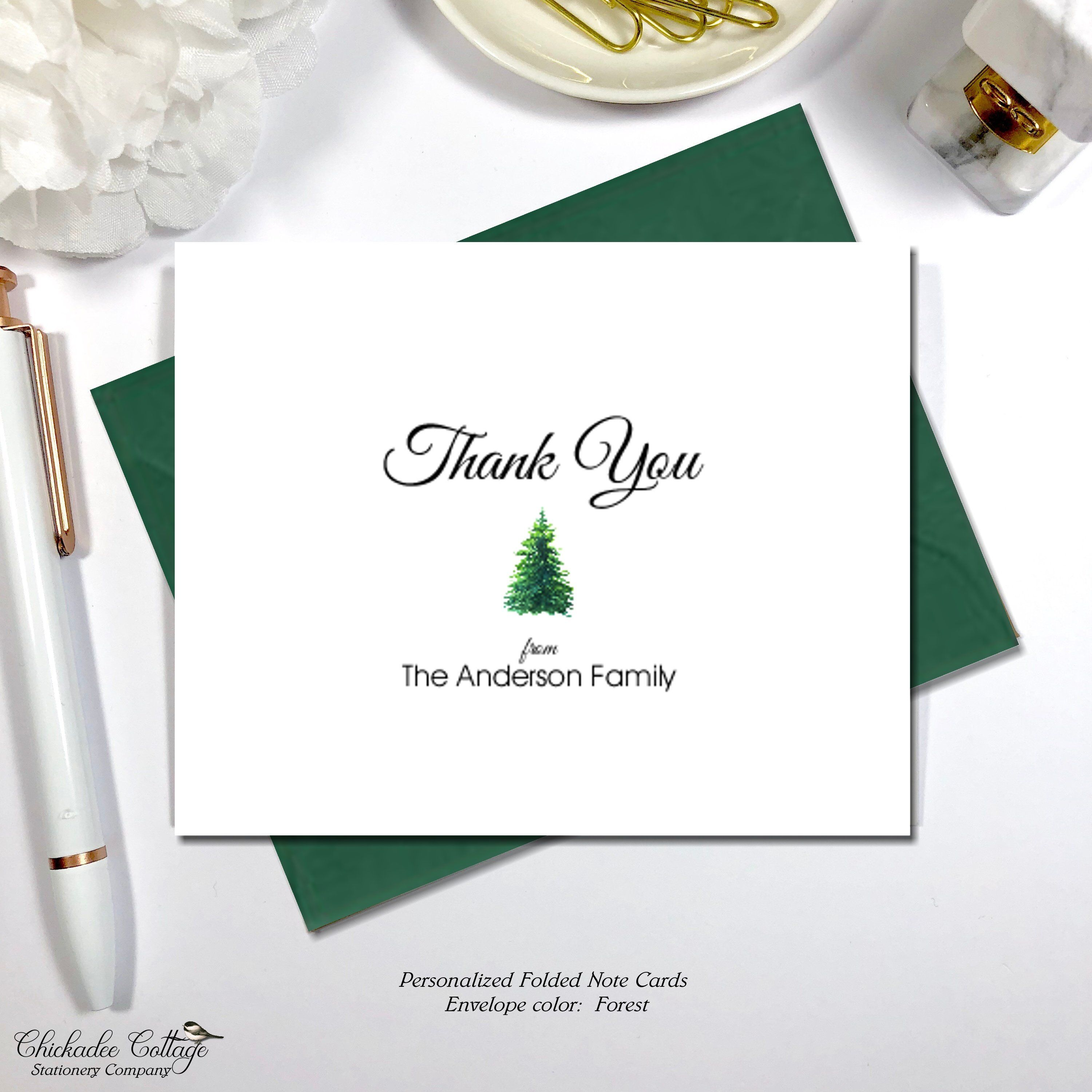 Christmas Thank You Cards Holiday Thank You Cards Family Thank You Cards Christmas Tree Christmas Thank You Christmas Thank You Folded Note Card Christmas Cards