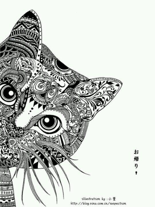 This Is The Tattoo I Want But In The Sugar Skull Owl Style On My Shoulder Arte Zentangle Arte Com Gatos Livros De Colorir Para Adultos