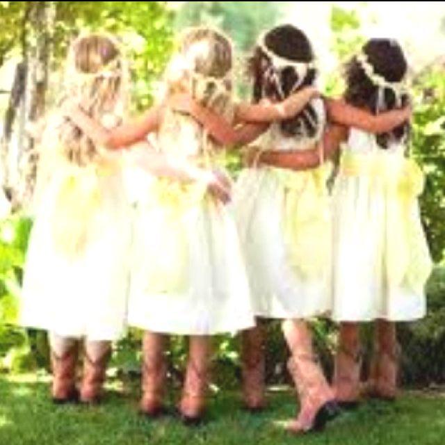 Something Borrowed Wedding Ideas: Flower Girls In Cowboy Boots !
