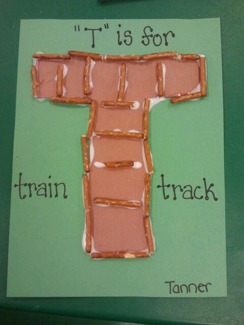 alphabet letter t is for train track letter t craft idea
