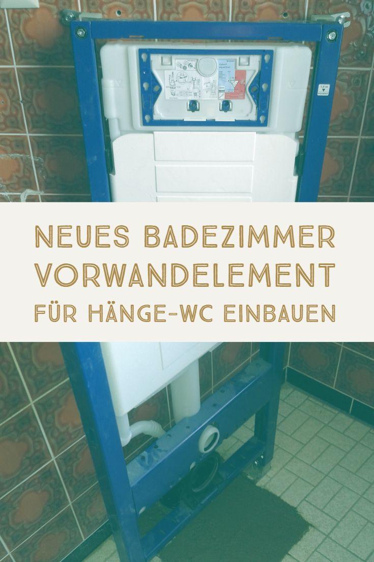 Eine Vorwandinstallation Im WC Ist Modern Und Versteckt Rohre Und  Spülkasten. So Sind Nur Die