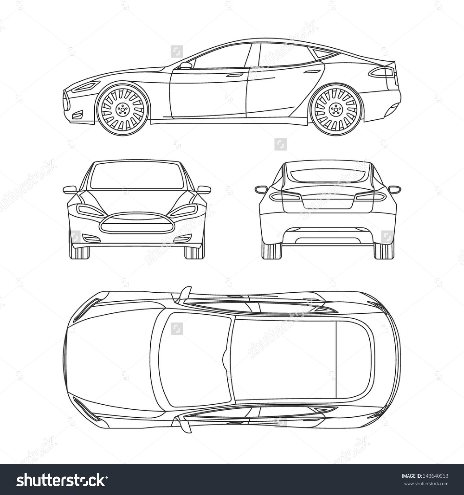 Plan view stock photos images pictures shutterstock car line draw blueprint front four side top back all vector drawings of a building design of ho