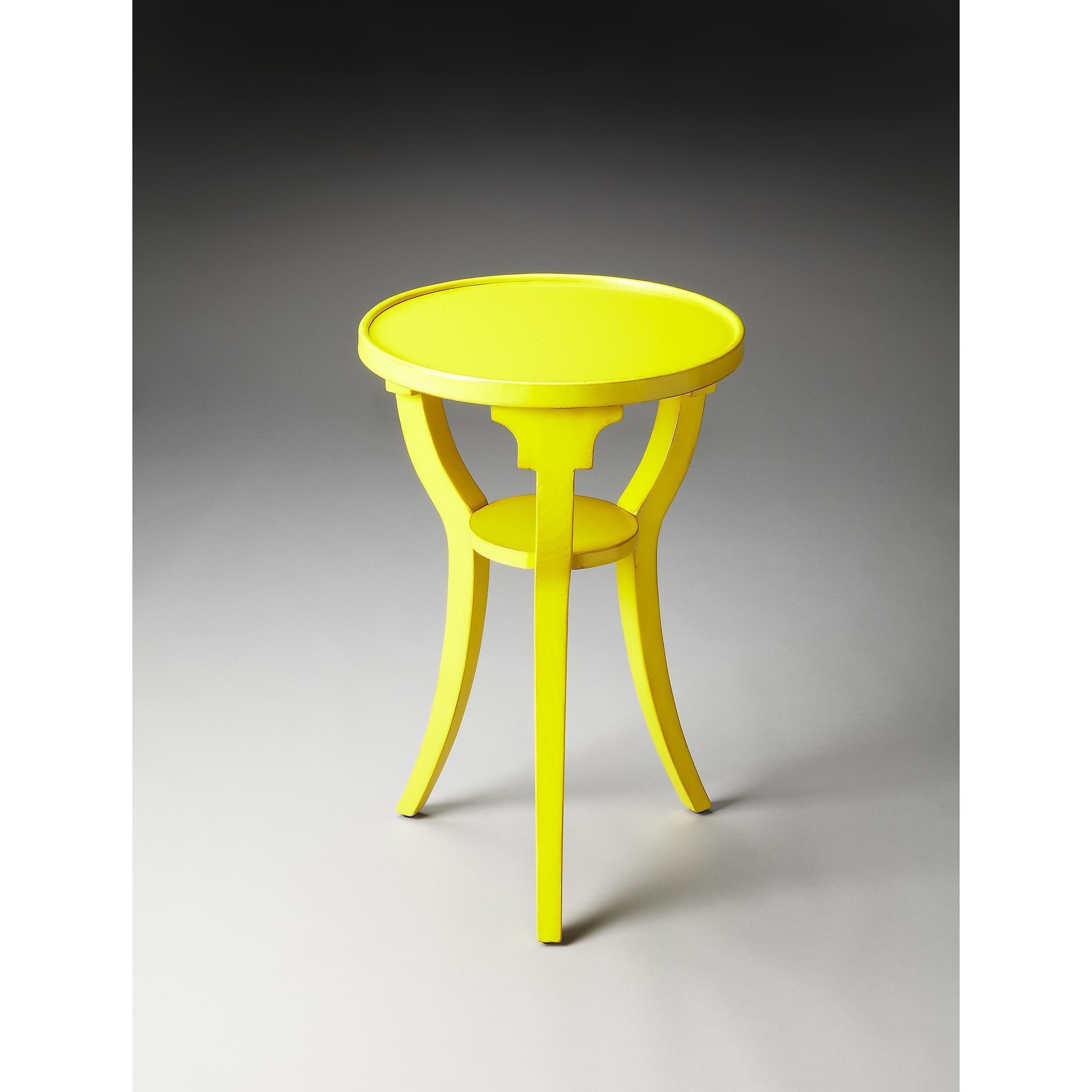 Butler Dalton Bright Wood and Round Accent Table