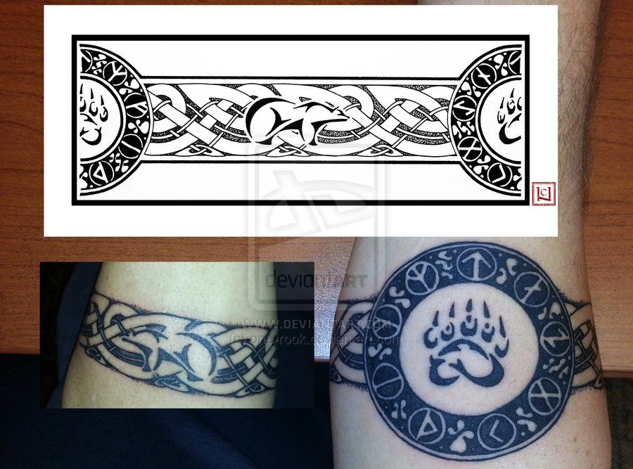 Viking Armband Tattoo Designs: Sablehawk's Armband Tattoo By One-rook.deviantart.com On