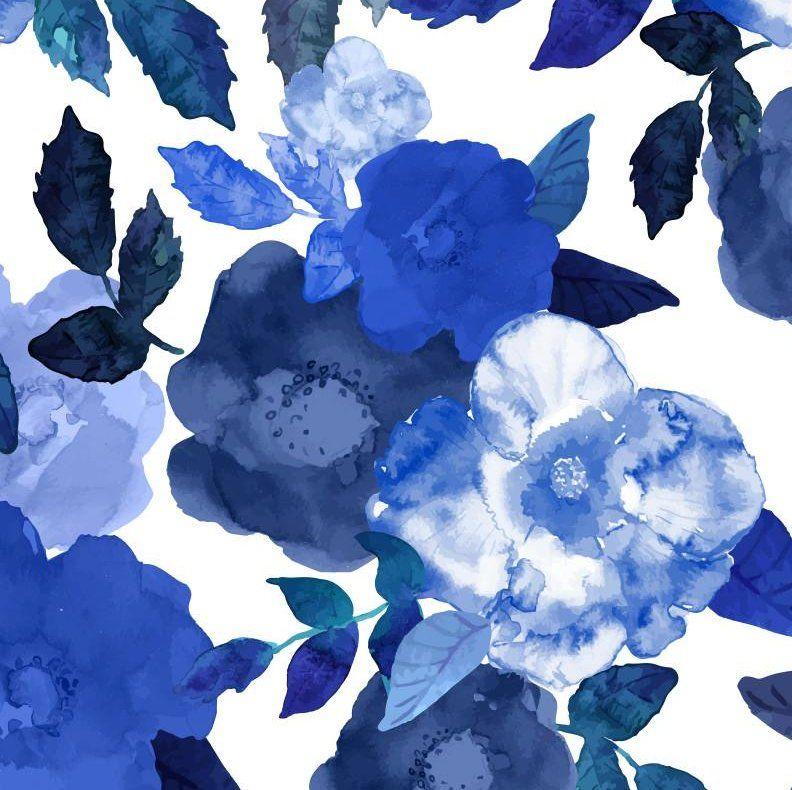 Rose Watercolor 24 L X 25 W Wallpaper Roll Blue Watercolor Wallpaper Watercolor Wallpaper Watercolor Flowers