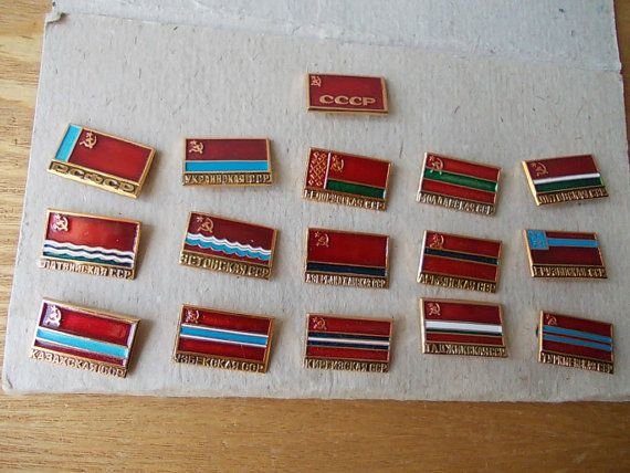 Full PIN Collection / Soviet Flags / USSR 70's / Red by EUvintage, $80.00