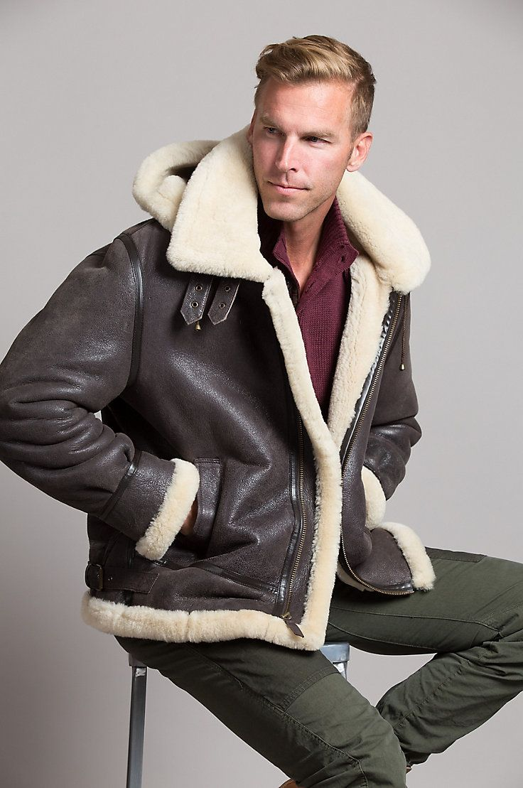 Premium Australian Sheepskin With A Gently Frosted Finish Features Hand Warmer Pockets And Leather Trimm Leather Jacket Men Leather Jacket Style Leather Jacket [ 1109 x 736 Pixel ]