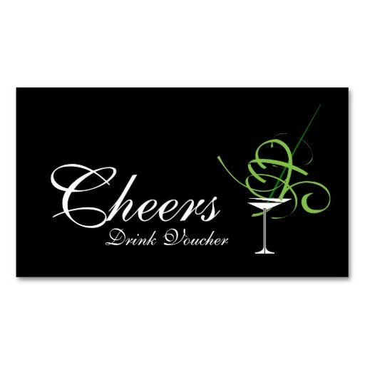 Wedding Drink Voucher Business Card Card templates, Business - free christmas voucher template
