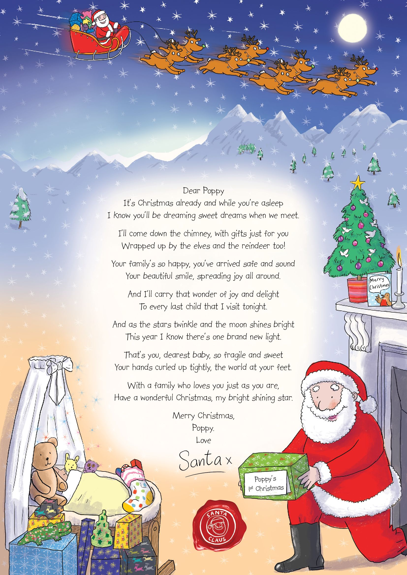 Nspcc Letter From Santa Santa Can Even Write A Special Letter To Celebrate Baby S First Christmas Christmas Lettering Christmas Card Messages Santa Letter