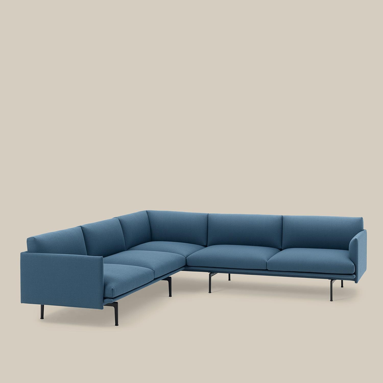 Modern And Minimal Corner Sofa Decor Inspiration From Muuto Scandinavian Sofa Design Scandinavian Furniture Design How To Make Corner Sofa