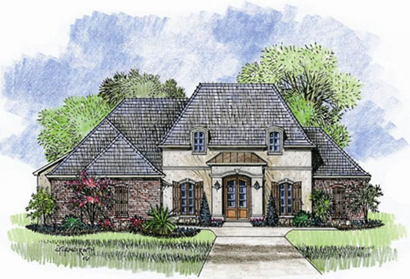 653715 A Beautiful 1 Story French Country Open Floor Plan House Plans Floor Plans Ho French Country House French Country House Plans Country House Plans
