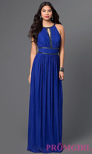 Long Grecian Style Prom Dress at PromGirl.com | -dressy- | Pinterest ...