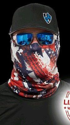 USA SA Face Mask Shield EDM Rave Mask SPF40 Tubular Bandana
