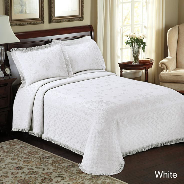 Beautiful Xxl Oversized White Vintage Classic Texture Bedspread Quilt Set King Ebay Bed Spreads White Bedspreads Home